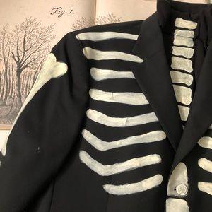Handpainted Skeleton Suit & Top hat.